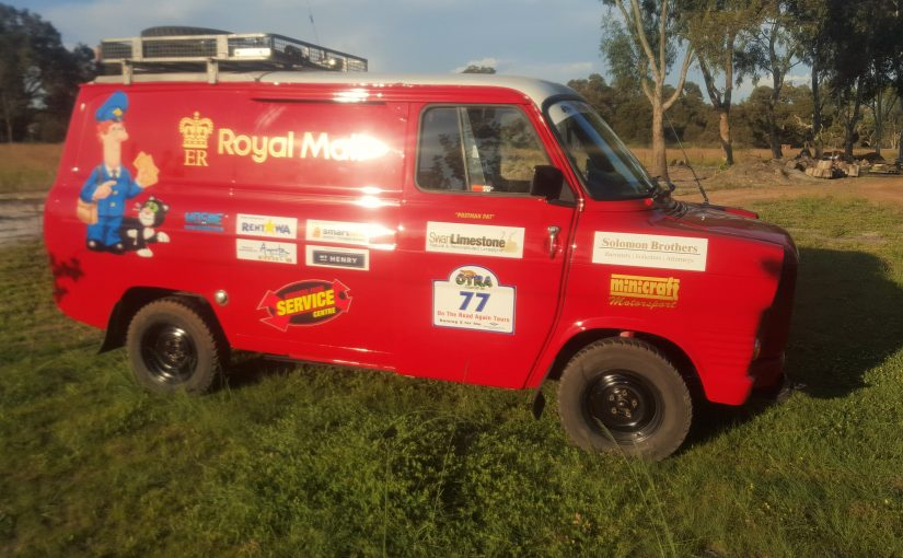 Swanlimestone's Event Vehicle covered with the logos of our sponsors.
